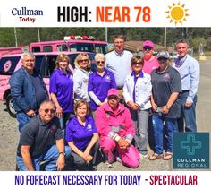CULLMAN COUNTY WEATHER Sunday April 2 2017  SPECTACULAR SUNDAY WEATHER - High 78°  TODAY: Cullman County weather features cloudless, brightly sunny skies. Look for an afternoon temperature approaching 80° in many areas. South-southeast wind 5 to 10 mph.