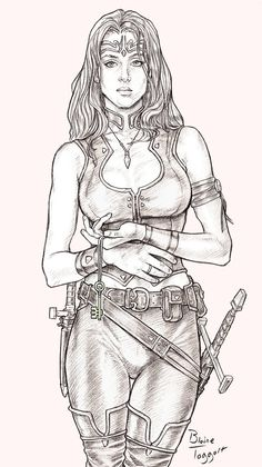Female Rogue by staino | NOT OUR ART - Please click artwork for source | WRITING INSPIRATION for Dungeons and Dragons DND Pathfinder PFRPG Warhammer 40k Star Wars Shadowrun Call of Cthulhu and other d20 roleplaying fantasy science fiction scifi horror location equipment monster character game design | Create your own RPG Books w/ www.rpgbard.com