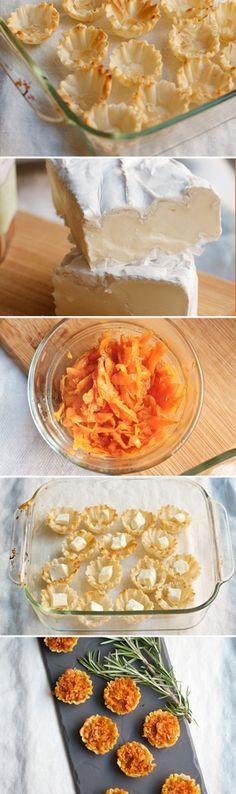 Baked Brie & Sweet Potato Bites