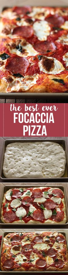 Best Ever Focaccia Pizza