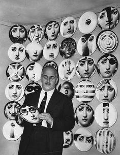 Piero Fornasetti & his plates.