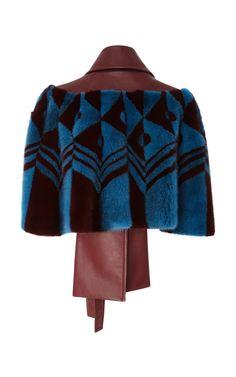 Fur and Leather Coat by Carolina Herrera | Moda Operandi