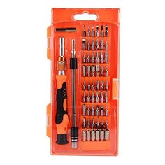 Huhuhero 58 in 1 with 54 Bit Driver Kit - Portable Deep Screw Hole Precision Screwdriver Set for iPhone/ Cell Phone/ iPad/ Tablet/ PC/ Macbook/ Electronics Repair Hand Tool Kits