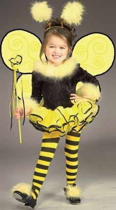 New Kids Halloween Costume Cute Bumble Bee Outfit Dress #Rubies