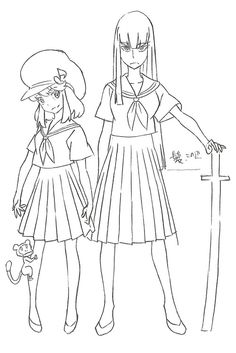 KILL la KILL Character Sheets for Satsuki Kiryuin & Nonon...