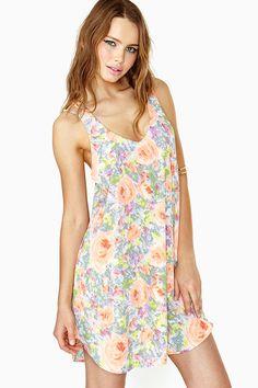 Soft Petal Tank Dress