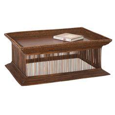 Oka Birdcage Coffee Table, Dark Stain