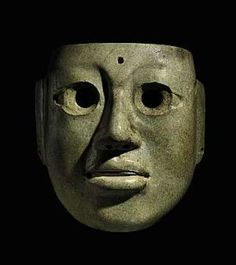 Large Olmec jade mask, Middle Preclassic, circa 900-300 BC.