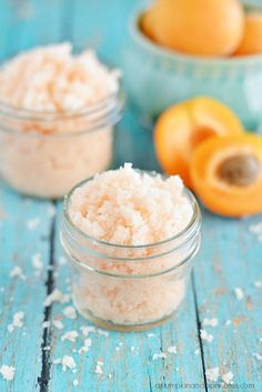 Nourish dry skin with this easy apricot oil sugar scrub. The apricot oil is great for naturally replenishing moisture in skin and hair.