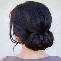 Simple and elegant wrap-around updo | 45 Glamorous Wedding updos for long and medium hair | CircleTrest