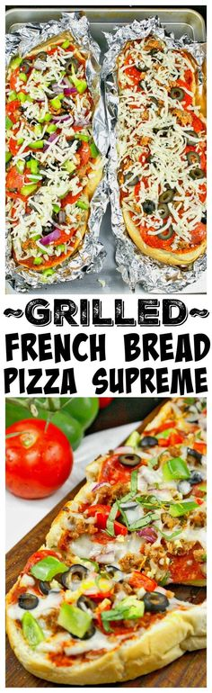This Grilled French Bread Pizza Supreme recipe is a simple meal. Pizza is fantastic on the grill and a great way to beat the Summer heat. With just a few ingredients and about 30 minutes dinner will be on the table. Plus it is totally customizable to everybody's liking and such a fun dinner for the kiddos to help with.