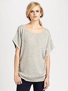 Haute Hippie - Sequin Dolman Sweatshirt