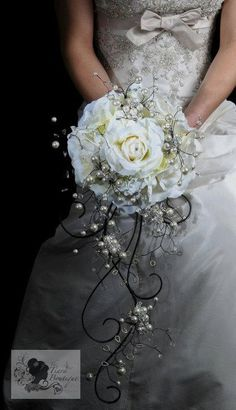 Stunning pearl crystal and flower artificial by TiaraBoutique, $333.40