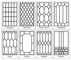 "How To Create a ""Leaded"" Glass Look on your Windows - using self adhesive lead tape (available in craft stores). This product line includes paint so you can create stained glass windows. #StainedGlasses"