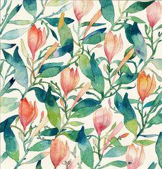 一支笔产生的花海系列-candy田_原创,插画,水彩,每日一涂,花卉,植物_涂鸦王国插画