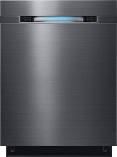 "Samsung - WaterWall 24"" Tall Tub Built-In Dishwasher - Black Stainless Steel"