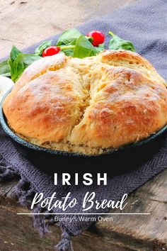 Irish Potato Bread, Sweet Potato Bread, Irish Potatoes, Bread Without Yeast, No Yeast Bread, Bread Baking, Bread Food, Scottish Recipes, Irish Recipes