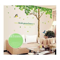 Wall Stickers Wall Decals, Style Large Tree PVC Wall Stickers – AUD $ 35.24