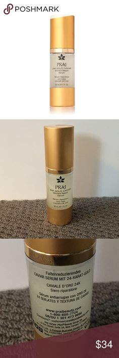 Prai 24k gold wrinkle repair serum Brand new Prai 24k gold wrinkle repair serum. 30 mL. PRAI Makeup