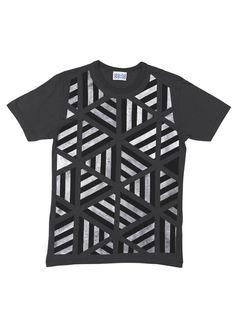 David David Hand painted t-shirt, Metallic 6 Equal Sides