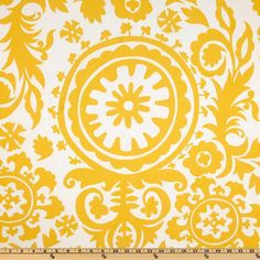 Premier Prints Corn Yellow Suzani from fabric dot com