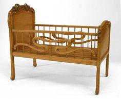 Art Nouveau baby crib