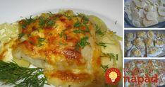 Rybie filé bez vyprážania, pripravené vrúre so zemiakmi asmotanou. Toto jedlo vám určite zachutí. Czech Recipes, Ethnic Recipes, Fish And Meat, Krabi, Meat Recipes, Quiche, Mashed Potatoes, Eggs, Chicken