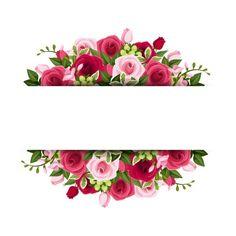 Flower Background Wallpaper, Cute Wallpaper Backgrounds, Flower Backgrounds, Cute Wallpapers, Flower Frame, Flower Art, Banners Web, Molduras Vintage, Flower Graphic Design