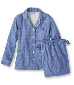 <p>Once you've slept in our pima cotton sleepwear, you'll want to wear it again and again. It's exceptionally soft, with a wonderfully smooth feel. The long-staple pima yarns give the fabric greater durability than ordinary cotton, but with the same easy care. Includes a button-front shirt and easy pull-on pants with a comfortable elastic waistband. Imported. Machine wash and dry.</p>