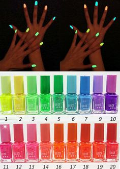Fluorescent Neon Nail Art Polish Glow In Dark Nail polish Varnish 7ml BJS5
