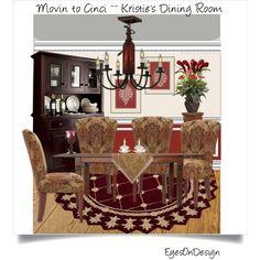 Superior Interiors ~~ Kristie's Cincinnati Dining Room for Movin to Cinci contest