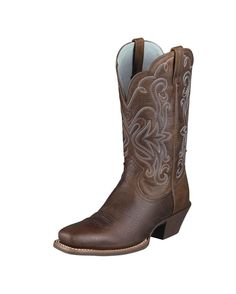 478fb2ac9d66 Ariat Saddle Vamp Legend Riding Cowgirl Boots - Square Toe