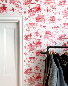 Mike D of the Beastie Boys designed the Brooklyn Toile wallpaper, from Flavor Paper, in collaboration with Vincent J. Ficarra of Revolver New York Beastie Boys, No Sleep Till Brooklyn, Toile Wallpaper, Print Wallpaper, D House, Creative Home, Decoration, Home Remodeling, Townhouse
