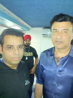 with #anu malik ji #rohit #shingne