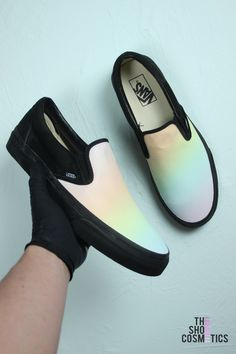 Custom vans slip on - pastel rainbow. Vans Shoes For ... 3100bac09