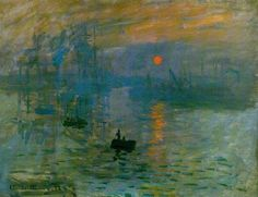 Monet's Impression Sunrise kicked off a whole movement. The last time I was in Paris, I got to sit at the Marmottan Museum and observe this painting all by myself.
