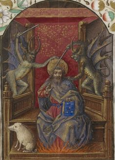 Bibliothèque nationale de France, NAL 3187, f. 200r. Horae ad usum Romanum (1470-1480). Temptation of St Anthony.
