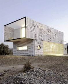 Shipping containers only have so long of a life span. What to do with them once they are unusable for shipping? Some innovative architect...