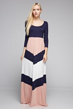 Head over heels for this cute little maxi! Our Why I Love You maxi dress features a large chevron print...