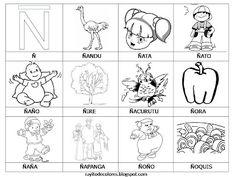 √ FREE Rayito de Colores: Palabras del Alfabeto, J-Q