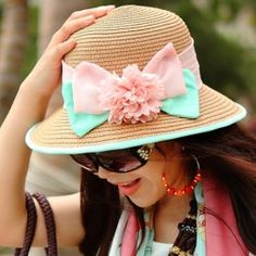 Sweet bow straw hat flowers sun hats for women Sun Hats For Women, Canvas Bags, Your Girlfriends, Summer Essentials, Best Gifts, Crochet Hats, Bows, Sweet, Unique