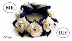 РЕЗИНКА НА ПУЧОК, МК / DIY Kanzashi Flower Bun Garland Headband / DIY Ha...