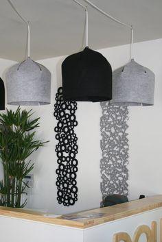 doll diseño: LAMPARAS DE FIELTRO !!!