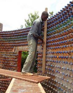building a plastic PET Bottle house