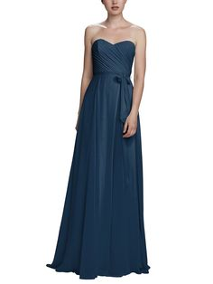 Take a look at this gorgeous Amsale Jaycie bridesmaid dress in navy fabric! Available in sizes and tons of colors at Brideside. Shop online, try at home or visit one of our showrooms! Navy Blue Bridesmaid Dresses, Bridesmaid Dress Styles, Bridal Party Dresses, Strapless Dress Formal, Formal Dresses, Navy Fabric, Fashion Dresses, Chiffon, Sequins