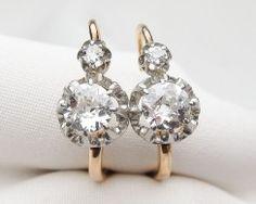 french diamond earrings Boucles, Bijoux, Oreilles, Boucle D oreille, Bagues  De 0c20e125f7d