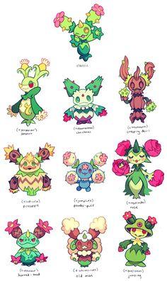 maractus variations by extyrannomon on DeviantArt - Pokemon Pokemon Go, Pokemon Fusion Art, Pokemon Fan Art, Pokemon Cards, Pokemon Planet, Pokemon Original, Pokemon Breeds, Cute Pokemon Wallpaper, Pokemon Pictures