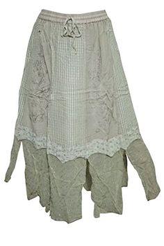 Women's Maxi Skirt Beige Embroidered Rayon Gypsy Skirts Mogul Interior http://www.amazon.com/dp/B019OJ9DTG/ref=cm_sw_r_pi_dp_D4aFwb10AT7JS