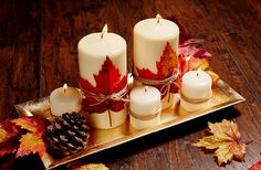 10 Quick DIY Decor Ideas You Need to Try This Fall Fall is almost upon us and many people are getting excited to start decorating with fall in mind. Many of us don't have it in the budget to decorate with expensive decor but I know…Continue Reading… Thanksgiving Diy, Thanksgiving Decorations, Harvest Decorations, Fall Home Decor, Autumn Home, Home Decoration, Fall Crafts, Diy Crafts, Fall Candles