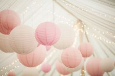 We suspended these gorgeous oversized Paper Lanterns from the Marquee ceiling for this beautiful Wedding at Middleton Lodge www.weddingandevents.co.uk
